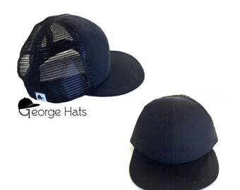 Toddler & Kids Trucker Hat / Baby Trucker Hat / Kids Snapback / BLACK