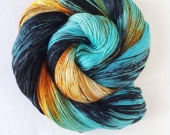 Ramoth's Flight  , hand painted, indie yarn