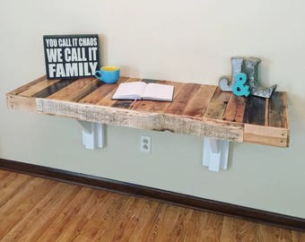 Reclaimed Wall Mount Desk