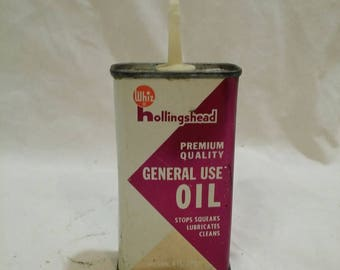 Hollingshead general purpose antique oil can