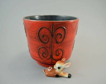 Vintage ceramic pottery planter / Ilkra / Fat Lava | West German Pottery | 70s