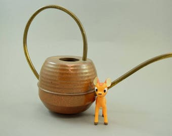 Vintage watering can, copper watering can, Bonsai watering can, indoor gardening | West Germany | 60s