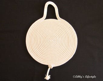 Handmade Rope trivet or pot holder.