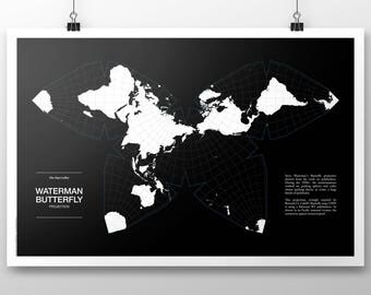Waterman Butterfly Projection Poster