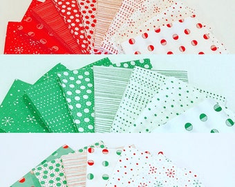 Fat Quarter Bundles Red Dot Green Dash by Me and My Sister- color options