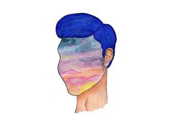 Head In the Clouds, 8x10, Print