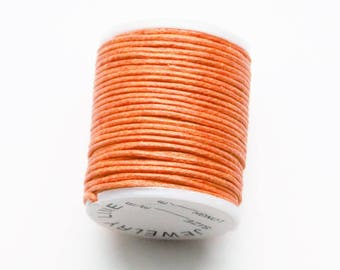 1 coil of cotton waxed cotton waterproof orange 10 m