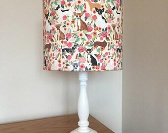 Chihuahua dog print fabric lamp