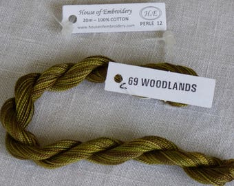 Beaded wire No. 12 HOUSE OF EMBROIDERY collar 69 c WOODLANDS