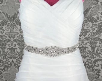 60% OFF Rich Crystal Bridal Belt - Rhinestone Embellishment Sash Jeweled Wedding Prom Bridesmaid Dress Applique - Style 8