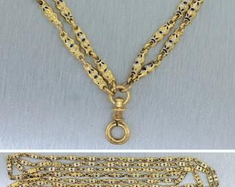 Victorian 14k Gold Enamel Chain