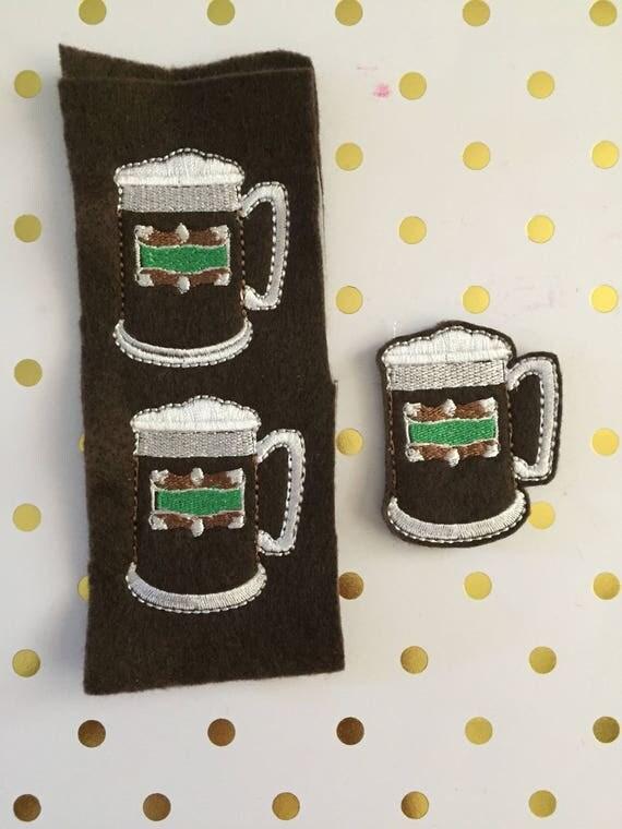Oversized Beer Mug Felties/Felt Embellishments/Planner Supplies/Planner Feltie/Wholesale Felties/Bow Embellishments/Mug Felties/HP Felties