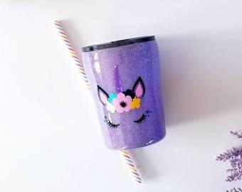 UNICORN Glitter Tumbler - Glitter Yeti - Kids Glitter Tumbler - Easter Gift - Mothers Day - Personalized Tumbler-Glitter Tumbler - unicorn