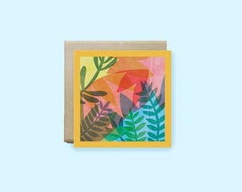 Jungle Plants Greeting Card