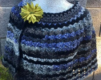 Woman's Capelet / Poncho, Crocheted