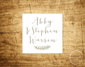 "Printable Calling Cards - Personalized Gift Enclosure Name Cards - 2.5""x2.5"" or Custom Size - Custom Digital Print - Instant Download"