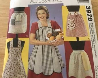 Vintage style apron pattern