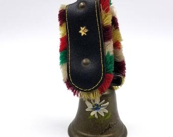 Vintage Souvenir Liechtenstein Brass Cow Bell