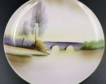 Hand Painted Meito China Plate