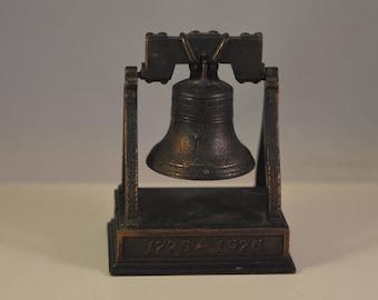 Vintage bell cast iron ,bronze...metal pencil sharpener, play me