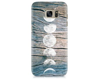 Case for Samsung Galaxy S7 S7 Edge Galaxy S8 Galaxy S8 Plus iPhone 7 iPhone 7 Plus LG G4 LG G5 Htc 10 Htc M9 Moon Phases on Wood Texture