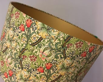 William Morris 'Golden Lily' handmade lampshade - various sizes