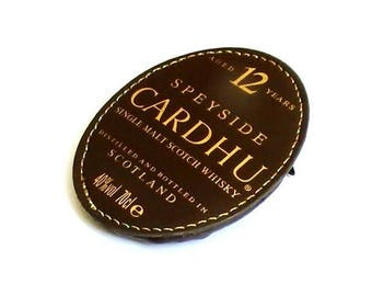 Brown leatherette Scotland whiskey pin