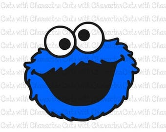 ON SALE Cookie Monster Sesame Street layered SVG Dxf and Png Files for Cutting Machines Silhouette, Cricut or Scan 'N' Cut