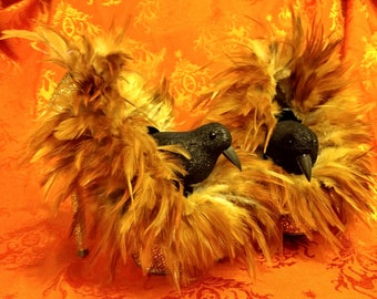Halloween Decor-Hand Crafted Witches Shoes