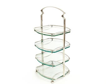 J.P.&Co. 4 Tiered Silver Plated Dessert Tray