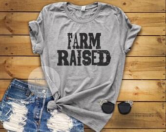 Farm Raised Distressed Funky T-Shirt