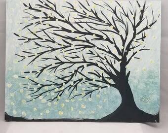 Flowering tree in bloom....acrylic on mdf board