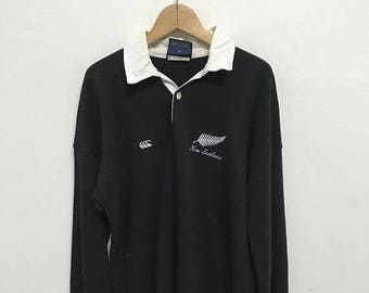 BIG SALE Vintage Canterbury Of New Zealand Rugby Shirt,Canterbury Rugby Jacket,Canterbury Color Block,Canterbury Big Logo