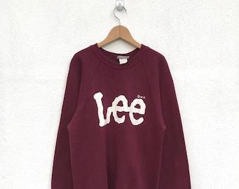 20% OFF Vintage Lee Sweatshirt/Lee Vintage Clothing/Lee Big Logo/Lee USA/Cowboy Shirt