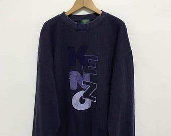 20% OFF Vintage Kenzo Golf Embroidery Big Logo Sweatshit/Kenzo Sport/Kenzo Sweater/Kenzo Jeans