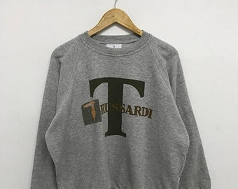 20% OFF Vintage Trussardi Sweatshirt/Trussardi Sweater/Trussardi Crewneck/Trussardi Big Logo/Spell Out