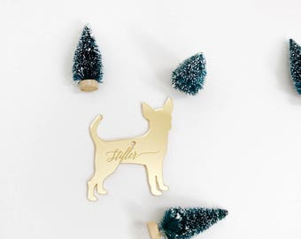 Custom Dog Silhouette Ornament,Personalized Gift,Custom Ornament,Christmas Decor,Wedding Gift,Dog Breeds,Gift Ideas,Holiday decor,Gift idea