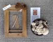 Tapestry Weaving Kit (S) - Natural, Weaving Loom, Wall Hanging, Hand spun Yarn - Learn to Weave, Beginners' Tapestry Kit