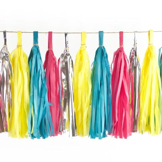Confetti Cocktail Tassels, Tissue Tassels, Tassel Banner, Birthday Party Decor, DIY Tassels, Girl, Wedding, Baby Shower Orange Bachelorette