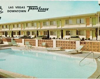Travelodge  Las Vegas Downtown    Vintage Color Postcard