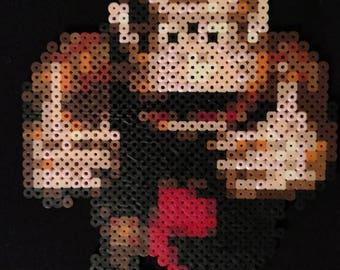 SNES Donkey Kong perler bead pixel art sprite
