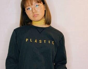 PLASTIC Black Logo Tee