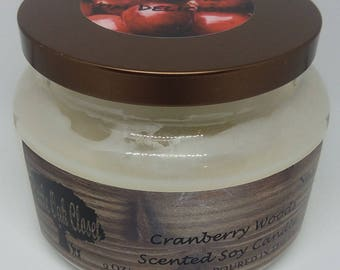 Cranberry Woods Scented 100% Soy Candle Homemade
