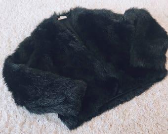 90's Bossy Bitch Fur Jacket