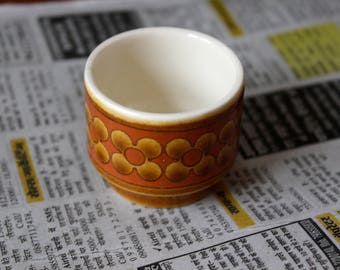 Vintage Retro 1970s Print Egg Cup / Mini Plant Pot