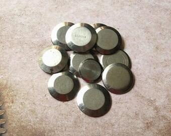 20% Off Sale 12 Assorted Watch Backs, Vintage Watch Parts, Steam Punk Supplies, Round Watch Back, Steel Watch Back, Steampunk Watch Back