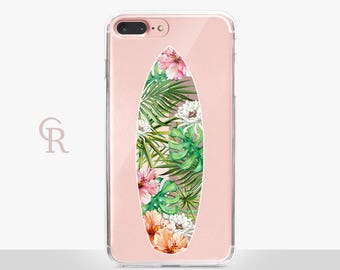 Surf iPhone 7 Plus Clear Case -  For iPhone 8 - iPhone X - iPhone 7 Plus - iPhone 6 - iPhone 6S - iPhone SE Transparent - Samsung S8 Plus