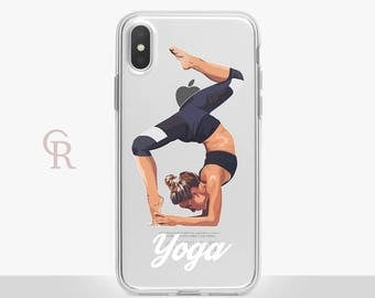 Yoga iPhone X Clear Case For iPhone 8 iPhone 8 Plus - iPhone X - iPhone 7 Plus - iPhone 6 - iPhone 6S - iPhone SE - Samsung S8 - iPhone 5