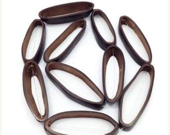 SALE 15% OFF Cagai seed beads, rings, Brown, 45 mm, 1 line, 1