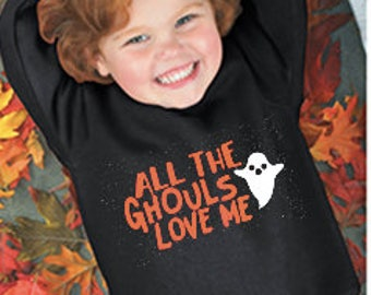 Halloween Shirt, All The Ghouls Love Me, Ghost Shirt, Boys Halloween Shirt, Infant Boys Onesie, Toddler Boys Halloween, Youth